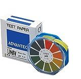アドバンテック東洋 pH試験紙 ロールタイプ UNIV (1~11) 変色表付 9mm×6m 1ロール 07011030