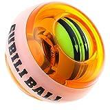 BETENSE LED発光 フィットネス 2017年版自動回転モデル オートスタート機能 手首 筋トレ 握力 腕力 トレーニング (オレンジ)