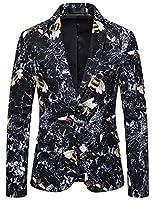 WHATLEES スーツジャケットメンズカジュアル テーラードジャケット細身 蜂柄 トップス ビジネス コートBA0554-09-S