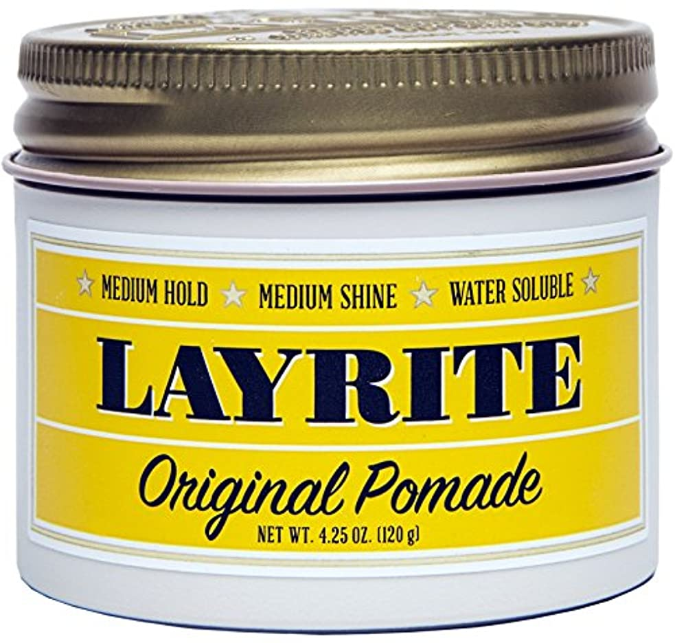 アルカトラズ島出版出発Layrite Original Pomade (Medium Hold, Medium Shine, Water Soluble) 120g
