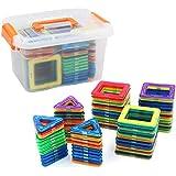 rui yue マグネットブロック 磁気おもちゃ 玩具 70PCS正方形×35個 三角形×35個 磁性構築ブロック 磁石ブロック子ども オモチャ 子供 立体パズル6歳以上 オモチャ 積み木 DIY ママグネットおもちゃ