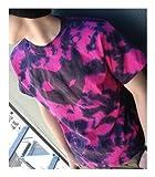 デトロイト・メタル・シティ DMCフェイスマークTシャツ  トロピカルピンク×ブラック サイズ:M