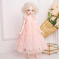 Lovoski かわいい 王女 レース スカート ドレス 服装 1/3 1/4 BJD SD LUTSドルフィー人形適用 全8色  - ライトピンク