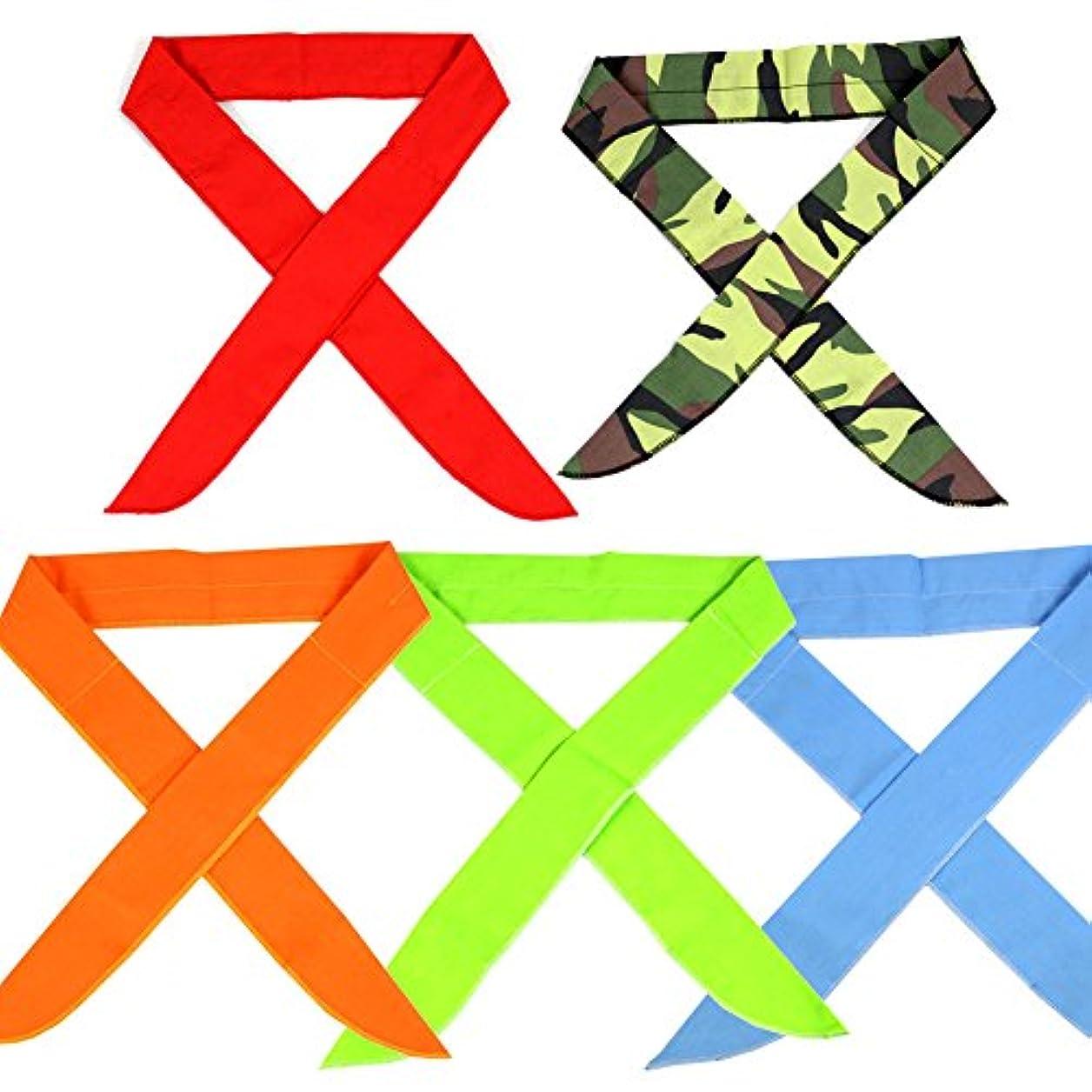 上下する陸軍自発パックの5、The Elixir Ice Coolスカーフネックラップヘッドバンドバンダナ冷却スカーフ、5個値パック