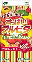 【冷蔵】日清ヨーク すっぱいフルビタ アセロラ&レモン パック500ml X10個