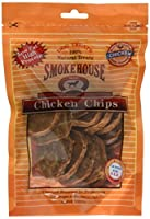 Smokehouse Pet Products DSM25011 Chicken Chips Natural Dog Chew Treat, Large, 4-Ounce by SmokeHouse