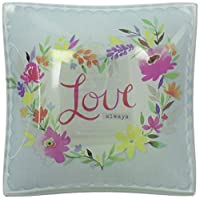 "Enesco Where The Heart is Plate, 4"", Love Heart, Multicolor"