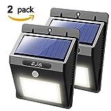 OJA 16 LED ソーラーライト ソーラー壁掛けライト 太陽発電 省エネ 人感センサーライト 防水 屋外照明 /車道/ガーデン/庭先/お寺 /軒先/壁掛け/玄関周りなどに適用 夜間自動点灯 (2)