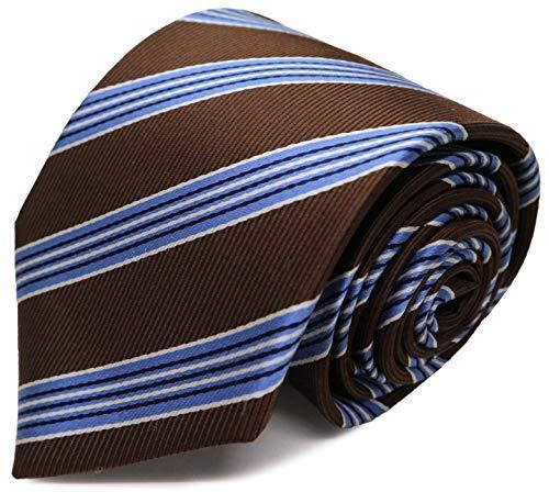 MICHIKO LONDON(ミチコロンドン) ブランドネクタイ 日本製 西陣織 シルク100% レジメン マルチストライプ (B柄:ブラウン)