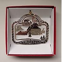 Virginia State Brass Christmas ORNAMENT Souvenir Gift
