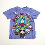 きかんしゃトーマス 半袖Tシャツ 100cm/110cm/120cm (742TM0041) (100cm, 杢ブルー)