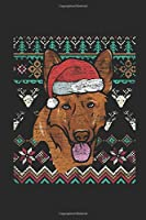 Ugly Christmas - German Shepherd: Dotted Bullet Journal (6 X 9 -120 Pages) - Ugly Christmas Gift and Holiday Planner For Women, Men, Teens And Kids