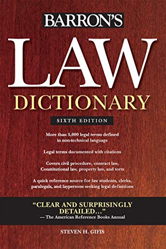 Download Barron's Law Dictionary 0764143581