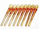 まとめ買い 美人髪 カラー ダッカール ヘアクリップ 100mm オレンジ8本セット