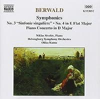 Symphony 3 & 4 by BERWALD (1996-04-23)