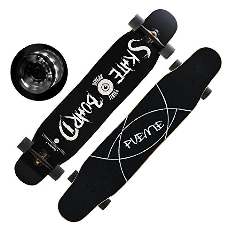 「FASTAM」46インチ高品質スケートボード/テールキック/メープルデッキDaincing, Freestyle, Cruising, Free ridenaなどに適用【ABEC-9ベアリング採用】