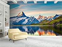 Mbwlkj カスタムの壁画 3D 壁紙風景アルプスの湖の子供の部屋の壁紙のテレビルームの家具の家の設計のリビングルームの男の子部屋の装飾が施されている。-400Cmx280Cm