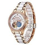 腕時計 レディース PRINCE GERA 高級 機械式 自動巻き 防水 花 ダイヤ 女性 ウォッチ [並行輸入品]