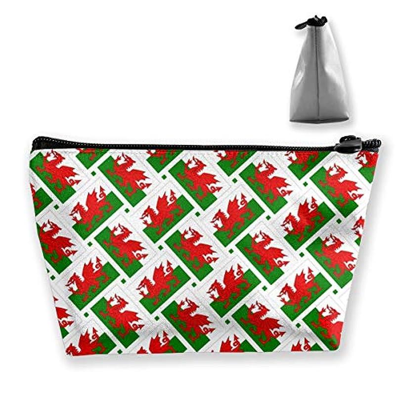 フローティング論争の的空気ウェールズの旗 化粧ポーチ メイクポーチ ミニ 財布 機能的 大容量 ポータブル 収納 小物入れ 普段使い 出張 旅行 ビーチサイド旅行