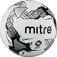 Mitre Calcio Hyperseam FBサッカーボール、ホワイト/ブラック/シルバー、サイズ5