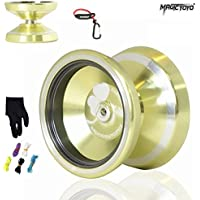 MAGICYOYO 2015 New Silencer M001-B Yo-yo Ball Aluminum Alloy Professional Yo-yo with Gloves + 5 Srings Gift Toys for Boys Girls Children Kids [並行輸入品]