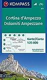 Cortina d'Ampezzo, Dolomiti Ampezzane 1:25 000: Wanderkarte mit Radrouten. GPS-genau