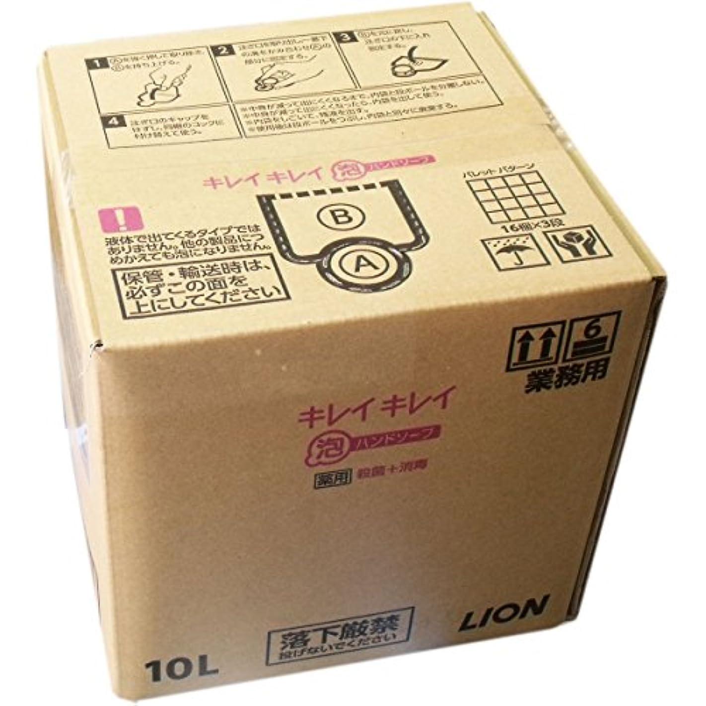 高さ下向き補足ライオン 業務用キレイキレイ 薬用泡ハンドソープ 10L