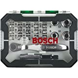 Bosch Screwdriver Bit and Ratchet with Colour Coding (26 Piece Set)