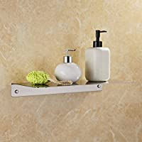 (SIZE 2, Brushed) - KES Bathroom Shower Shelf Stainless Steel 16-Inch or 40 CM Shower Caddy Bath Kitchen Floating Shelf 2-MM Extra Thick Wall Mount Rustproof Brushed Finish, BSC211S40-2