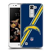 オフィシャル NFL ストライプ Los Angeles Chargers ロゴ LG K8 / Phoenix 2 専用ハードバックケース