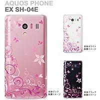 【AQUOS PHONE EX SH-04E】【docomo】【IGZO】【イグゾー】【カバー】【スマホケース】【クリアケース】【花と蝶】  22-sh04e-ca0076