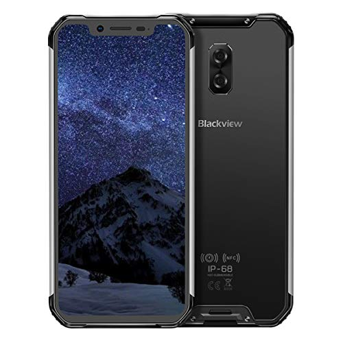 "Blackview BV9600-アンドロイド8.1 4G LTE屋外スマートフォン、6.21""19:9 FHD AMOLEDディスプレイ、Helio P70(6771T)4GB + 64GB、5580mAhバッテリー、IP68 / IP69K防水/防塵、NFC (black)"