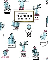 Monthly Planner 2020-2024: Cute 5 Year Monthly Organizer & Five Year Agenda   60 Months Spread View with To-Do's, Vision Boards, Inspirational Quotes & Notes   Nifty Potted Cactus & Cacti Print