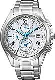 [シチズン]CITIZEN 腕時計 EXCEED エクシード ダブルダイレクトフライト ドレスライン 針表示式ワールドタイム デュラテクトα搭載 エコ・ドライブ電波時計 AT9050-58A メンズ