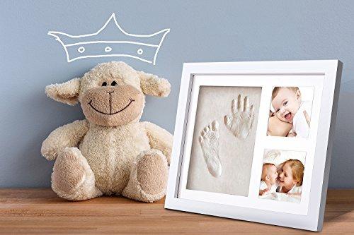 TEPSMIGO 手形 赤ちゃん 足形 ベビーフレーム 出産祝い 安全粘土 置き掛け兼用 サイズ/22.7 x 28 CM