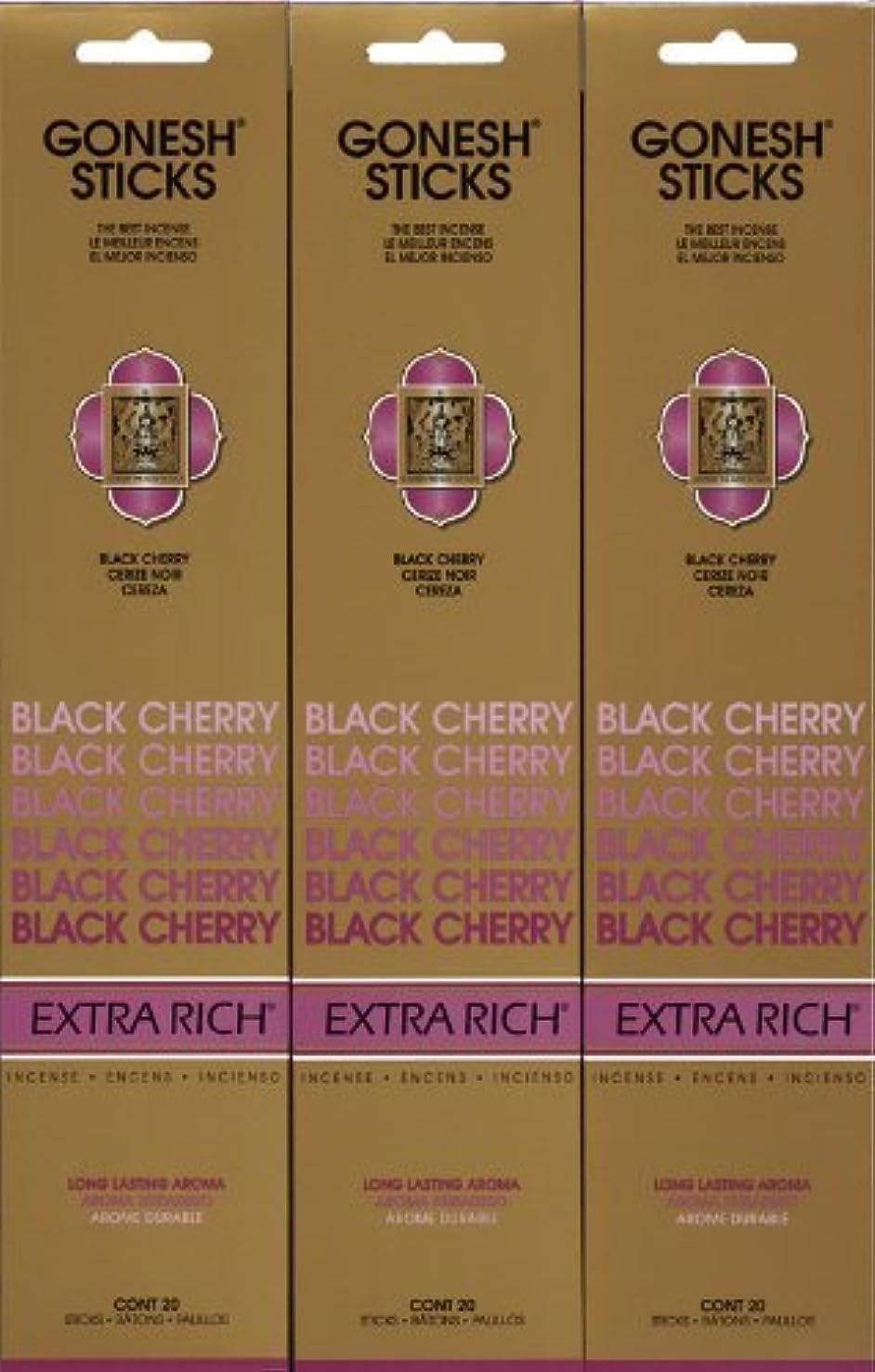 GONESH  BLACK CHERRY ブラックチェリー 20本入り X 3パック (60本)