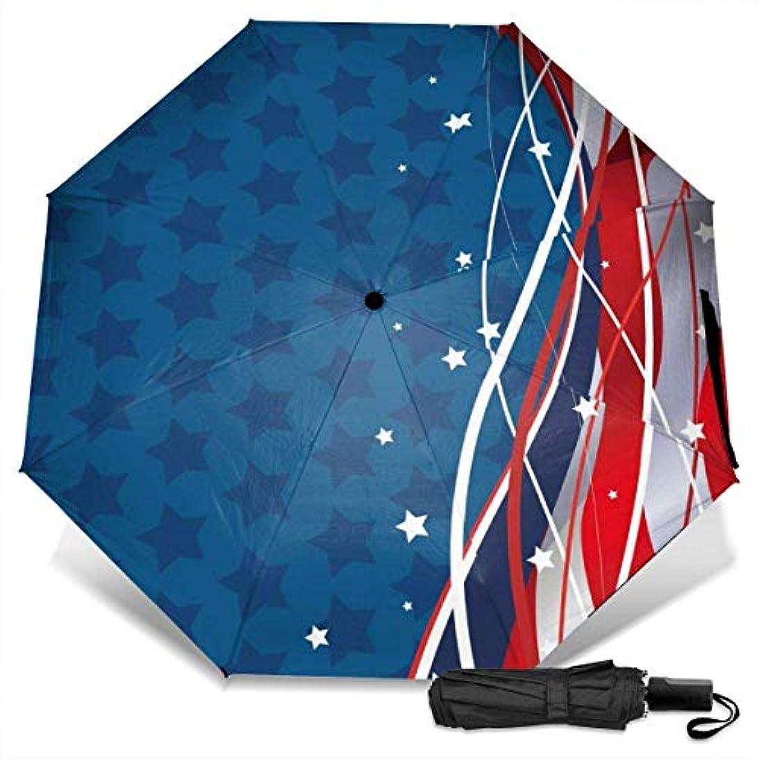 歌手くま創始者愛国的な背景星条旗折りたたみ傘 軽量 手動三つ折り傘 日傘 耐風撥水 晴雨兼用 遮光遮熱 紫外線対策 携帯用かさ 出張旅行通勤 女性と男性用 (黒ゴム)