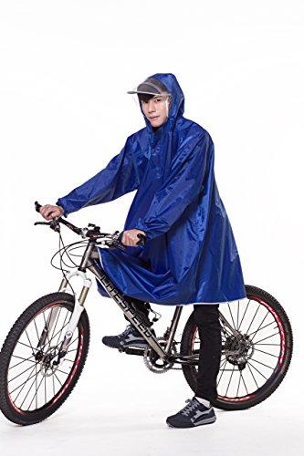 レインコート 自転車 バイク ロング ポンチョ 男女兼用 通勤通学 フリーサイズ 軽量 完全防水 収...