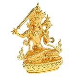 SunniMix 文殊菩萨 仏像 チベット 合金 菩薩 ホーム 寺 装飾 仏教用品