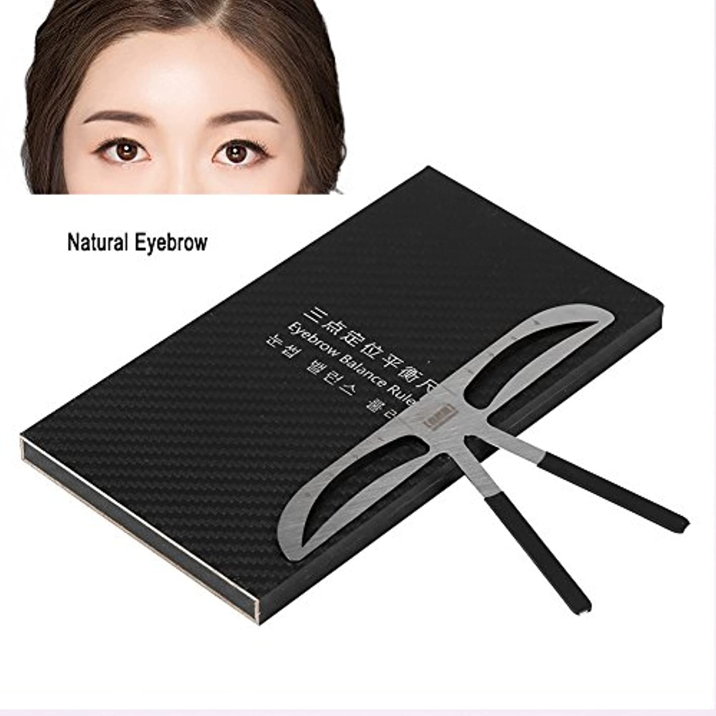 Ochun 眉毛テンプレート 眉毛メイクツール 眉毛を描く 位置測定 3点測定メイク 左右対称 眉毛用ルーラー(#1)