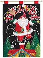 Bucilla Felt Applique Wall Hanging Kit, 14.75 by 21.5-Inch, 86682 Believe Santa