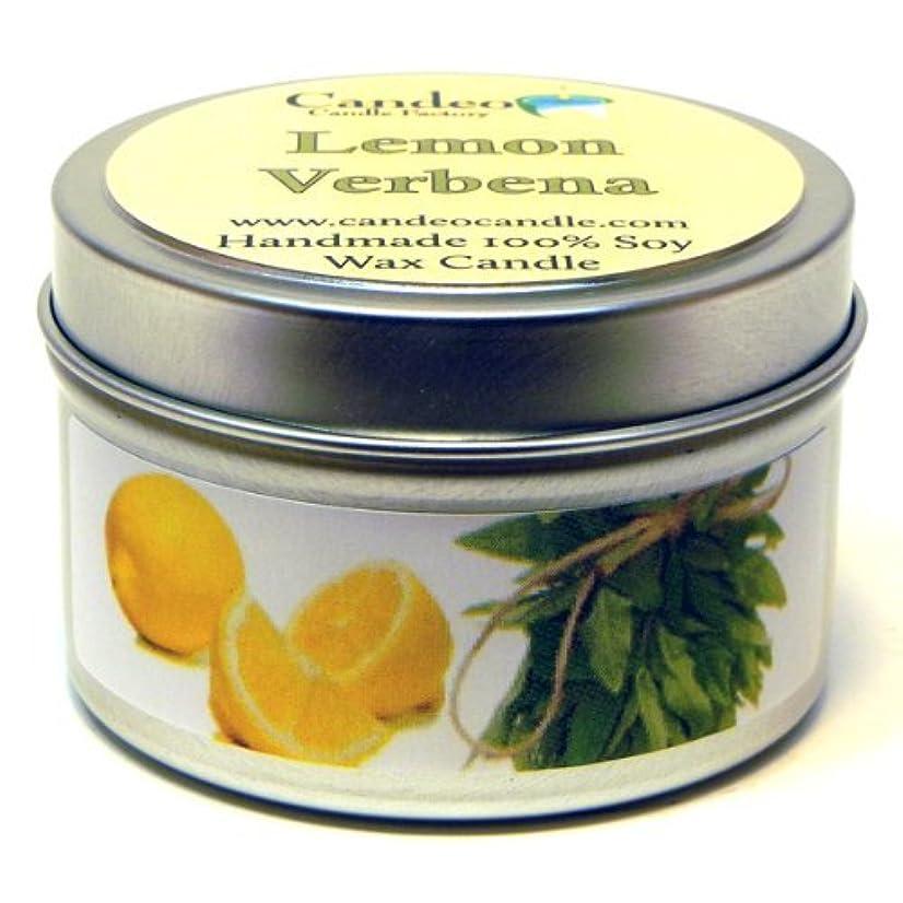 愚かな生産的リネンLemon Verbena、スーパー香りつきSoy Candle Tin 4oz イエロー 5590