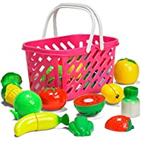 おままごと 切れる果物/野菜セット - バスケット入り