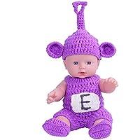 KIDDING 30cmハンドメイドセーター シミュレーション赤ちゃん 入浴人形 ソフトベビー 幼児教育 劇場 子供たち プリンセス 若い女の子 おもちゃ人形 (ラベンダーセーターオプティカルヘッドドール)