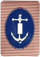 3drose LSP _ 55600_ 1アンカーヨットクラブ–ビーチアート–Sailingと水スポーツデザイン–Single切り替えスイッチ