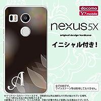 Nexus5X スマホケース カバー ネクサス5X イニシャル ぼかし模様 黒 nk-nexus5x-1595ini W