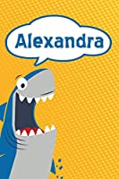 "Alexandra: Personalized Shark Isometric DOT Paper notebook for Kids  120 pages 6""x9"""