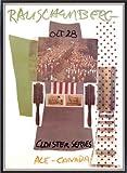 ポスター ロバート ラウシェンバーグ Cloister Series、Ace Gallery、Canada 1980 額装品 マッキアフレーム-S(ブラックシルバー)