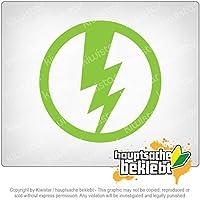 雷/電気 Lightning / electricity 10cm x 10cm 15色 - ネオン+クロム! ステッカービニールオートバイ
