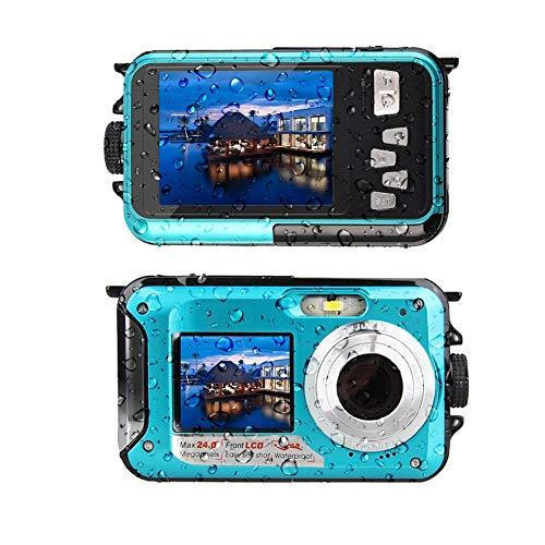 防水カメラ デジタルカメラ 水中カメラ フルHD 1080P 防水デジタルカメラ 24.0MPデュアルスクリーン オートフォーカス デジカメ 水に浮く